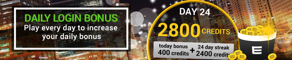 Log in every day and receive up to 2,800 virtual credits!
